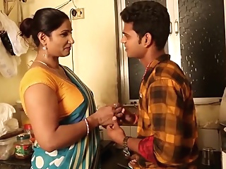 Hot Aunty Seduces junior Boy big ass big tits indian
