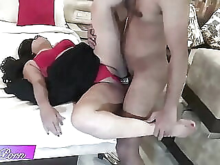 Desi sexy bhabi Rupa fucking with her young devar in hotel asian blowjob close-up